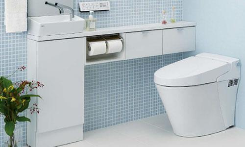 タンクレストイレ,手洗い場