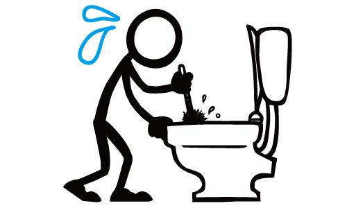 トイレ,掃除,大変